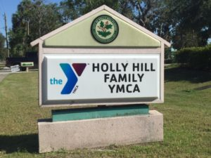 Holly Hill YMCA Sign